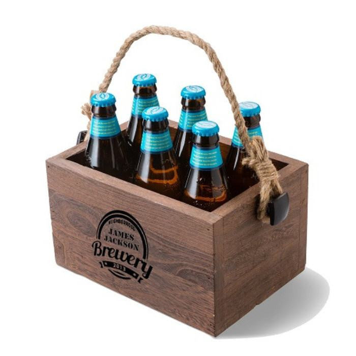 Personalized Beer Caddy - Cece & Me - Home and Gifts