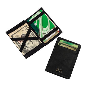 Personalized Black Leather Magic Wallet - Cece & Me - Home and Gifts