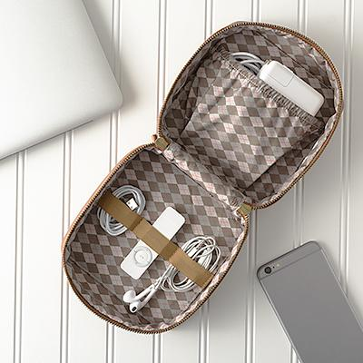 Personalized Brown Travel Tech Case - Cece & Me - Home and Gifts