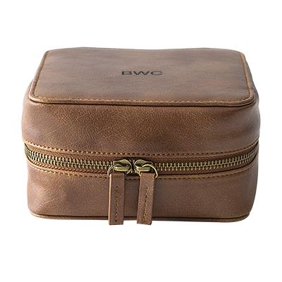 Image of Personalized Brown Travel Tech Case - Cece & Me - Home and Gifts