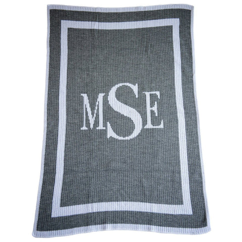 Personalized Classic Monogram Blanket - Cece & Me - Home and Gifts