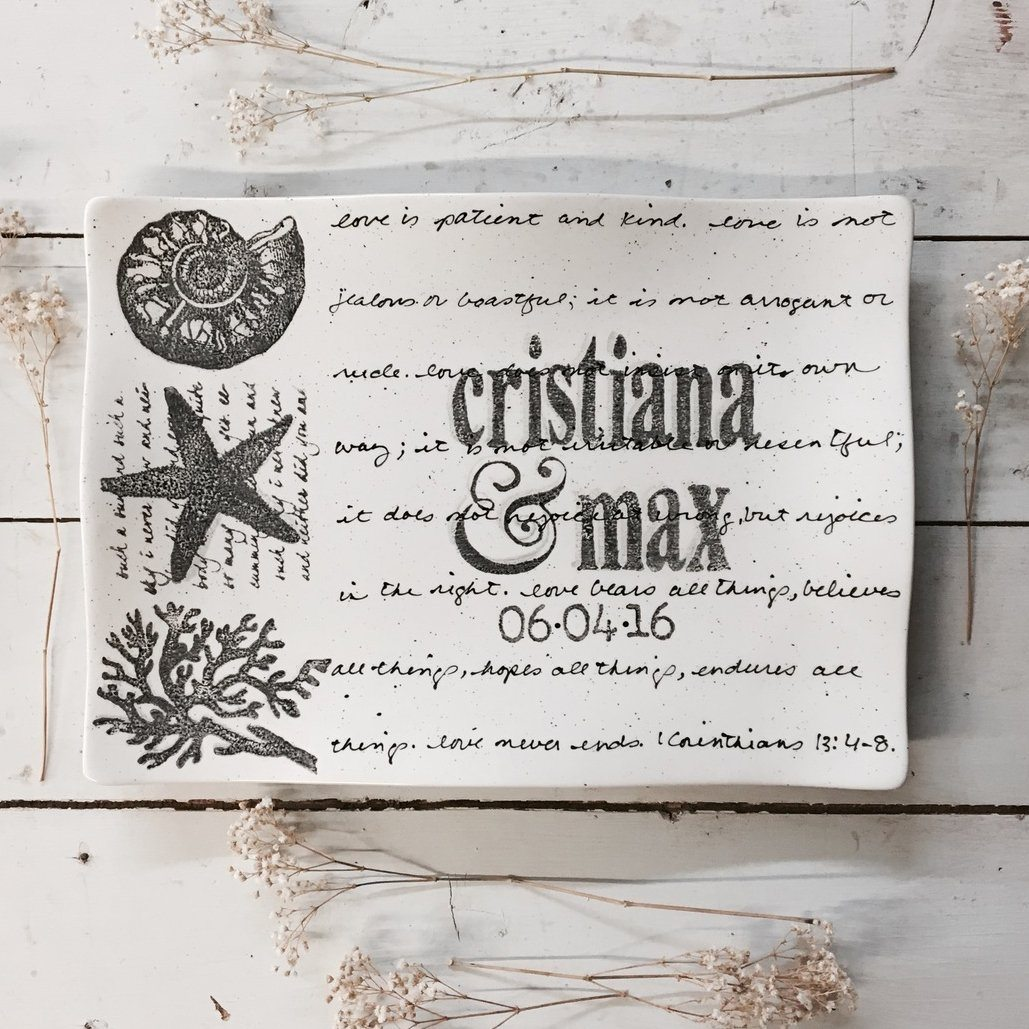 Personalized Coastal Platter Flare ~ Wedding Invitation - Cece & Me - Home and Gifts