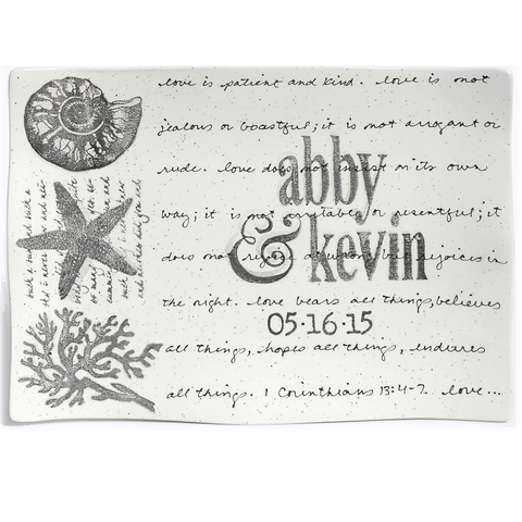 Image of Personalized Coastal Platter Flare ~ Wedding Invitation - Cece & Me - Home and Gifts