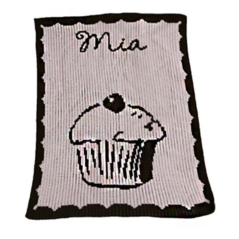 Personalized Cupcake & Name Blanket - Cece & Me - Home and Gifts