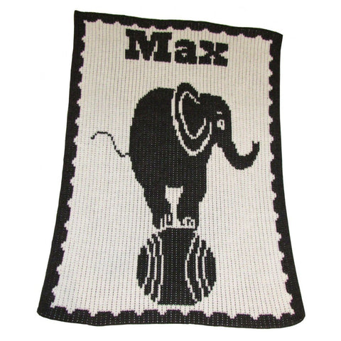 Personalized Elephant on Ball Blanket - Cece & Me - Home and Gifts