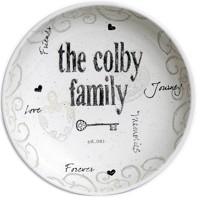 Personalized Heart & Key Family Name Bowl - Cece & Me - Home and Gifts