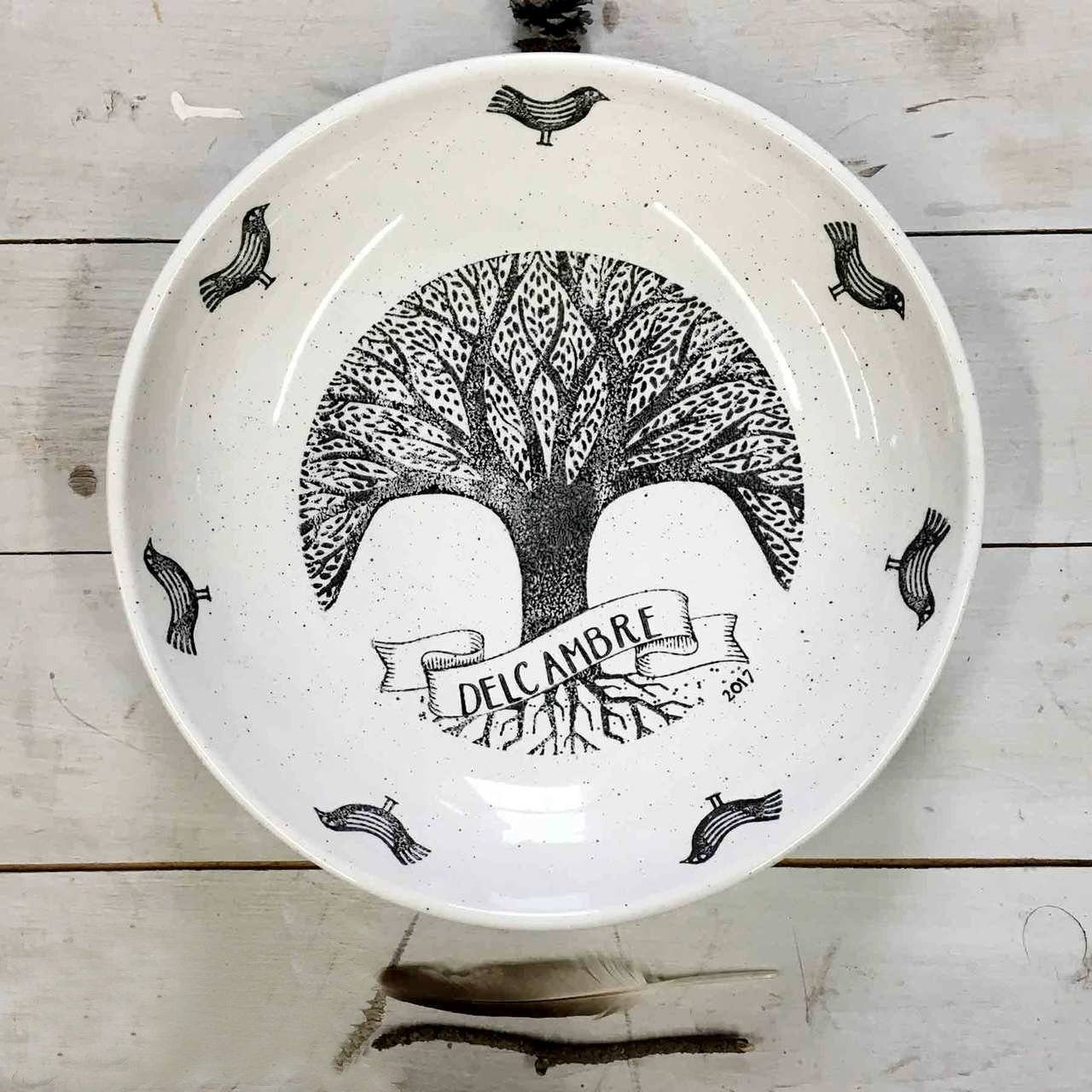 Personalized Family Tree ~ Bowl - Cece & Me - Home and Gifts