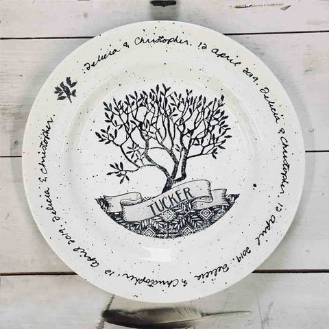 Personalized Family Tree ~ Plate - Cece & Me - Home and Gifts