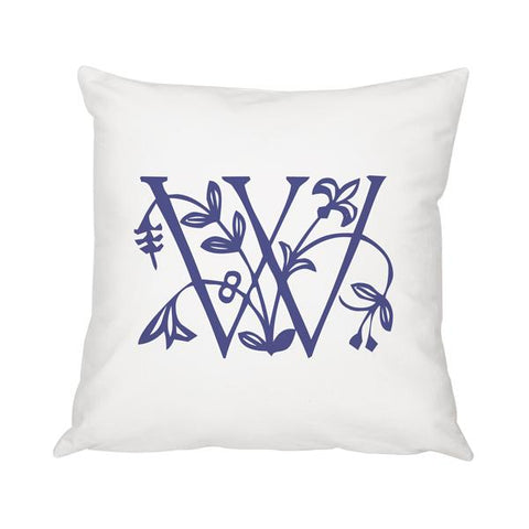 "Image of Personalized Floral Initial 16"" Throw Pillow - Cece & Me - Home and Gifts"
