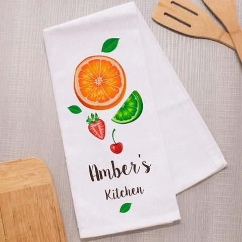 Personalized Fruit Dish Towel - Cece & Me - Home and Gifts
