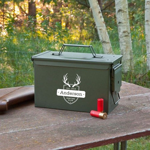 Image of Personalized Genuine Metal Ammo Box - Cece & Me - Home and Gifts