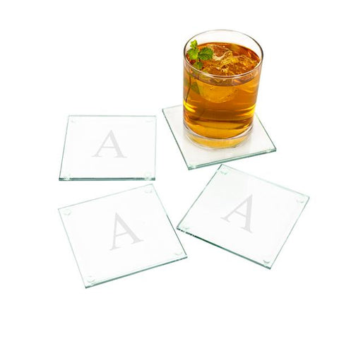 Image of Personalized Glass Coasters (Set of 4) - Cece & Me - Home and Gifts