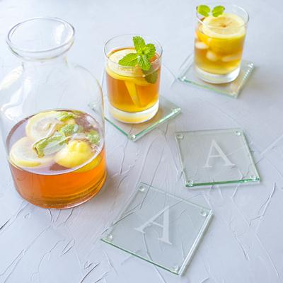 Personalized Glass Coasters (Set of 4) - Cece & Me - Home and Gifts