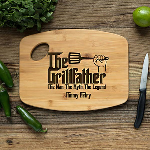 Personalized Handle Grillfather Cutting Board - Cece & Me - Home and Gifts