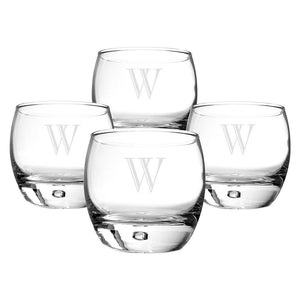 Personalized Heavy Based Whiskey Glasses (Set of 4) - Cece & Me - Home and Gifts