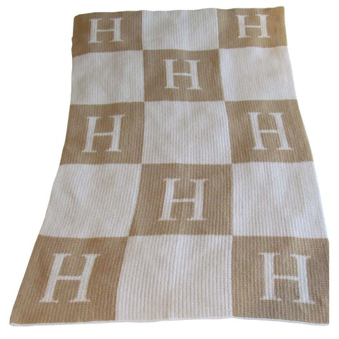 Personalized Initial and Blocks Blanket - Cece & Me - Home and Gifts