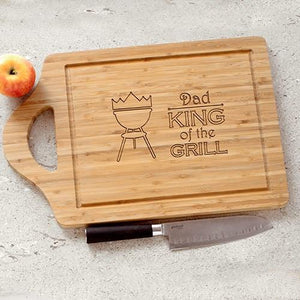 Personalized King of the Grill Cutting Board - Cece & Me - Home and Gifts