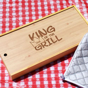 Personalized King of the Grill Set - Cece & Me - Home and Gifts