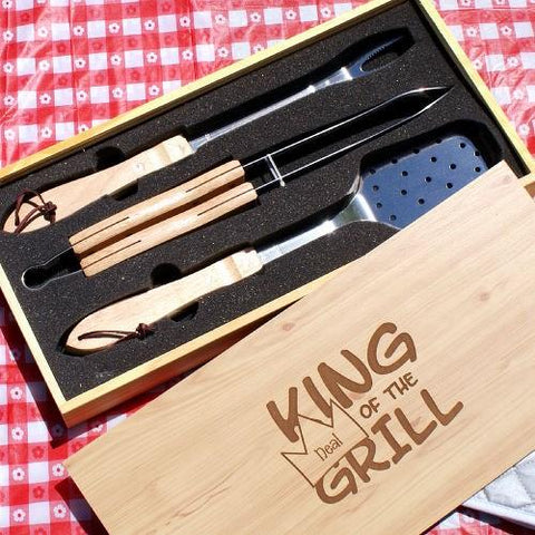 Image of Personalized King of the Grill Set - Cece & Me - Home and Gifts