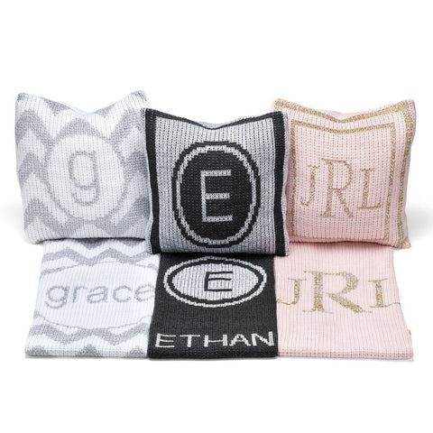 Personalized Metallic Modern Stripe Blanket - Cece & Me - Home and Gifts