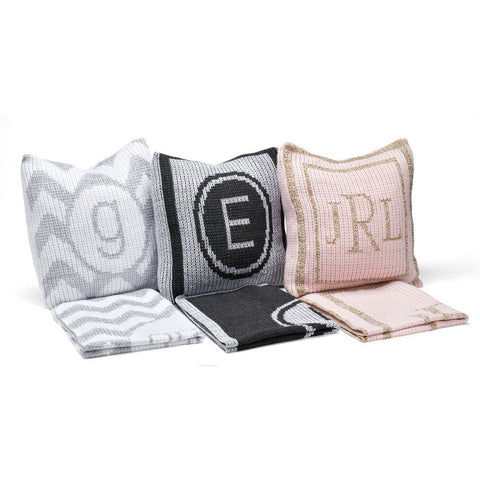 Image of Personalized Metallic Initial Stamp & Name Pillow - Cece & Me - Home and Gifts