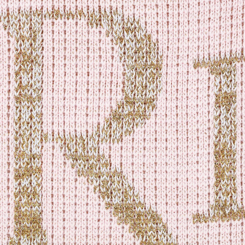 Personalized Metallic Classic Monogram Blanket - Cece & Me - Home and Gifts