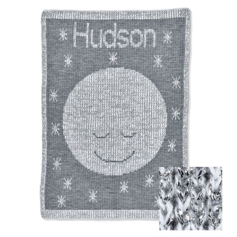 Personalized Metallic Goodnight Moon Blanket - Cece & Me - Home and Gifts