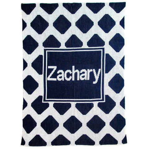 Personalized Modern Chrisscross & Name Blanket - Cece & Me - Home and Gifts