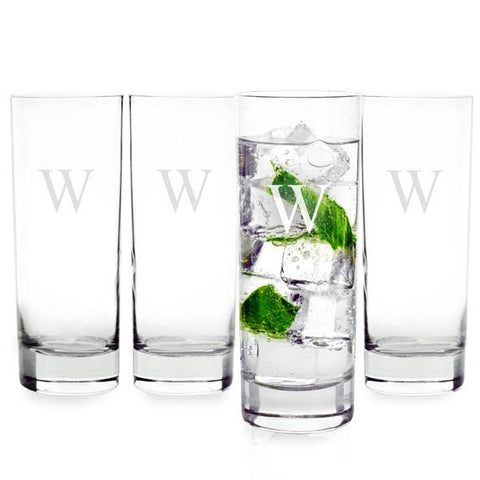 Personalized 12 oz. Mojito Cocktail Glasses (Set of 4) - Cece & Me - Home and Gifts
