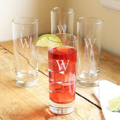 Image of Personalized 12 oz. Mojito Cocktail Glasses (Set of 4) - Cece & Me - Home and Gifts