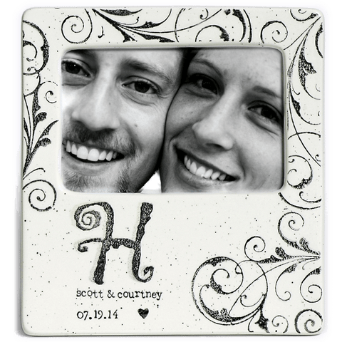 Personalized Monogram Photo Frame - Cece & Me - Home and Gifts