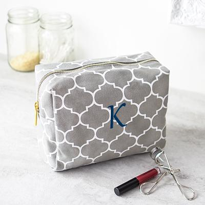 Image of Personalized Moroccan Lattice Cosmetic Bag - Cece & Me - Home and Gifts