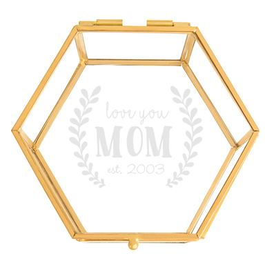 Personalized Mother's Day Gold Jewelry Box - Cece & Me - Home and Gifts