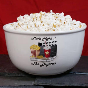 Personalized Movie Night Ceramic Bowl - Cece & Me - Home and Gifts