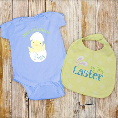 Personalization for baby kids personalized my first easter bib set blue cece me home and gifts negle Choice Image