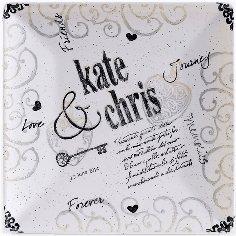 Image of Personalized Name Wedding Charger - Cece & Me - Home and Gifts