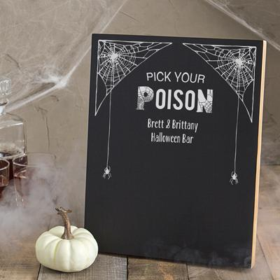 Personalized Pick Your Poison Chalkboard - Cece & Me - Home and Gifts