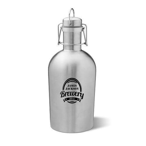 Image of Personalized Stainless Steel Growler - Cece & Me - Home and Gifts