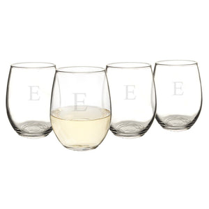Personalized Stemless Wine Glasses (Set of 4) - Cece & Me - Home and Gifts