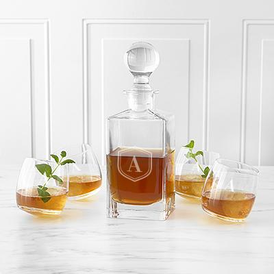 Personalized Tipsy Whiskey Decanter Set - Cece & Me - Home and Gifts