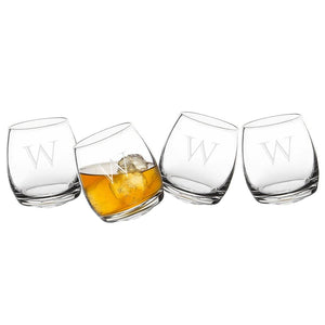 Personalized Tipsy Whiskey Glasses - Cece & Me - Home and Gifts