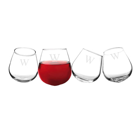 Personalized Tipsy Wine Glasses (Set of 4) - Cece & Me - Home and Gifts