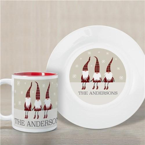 Personalized Welcome Gnome Plate And Mug Set