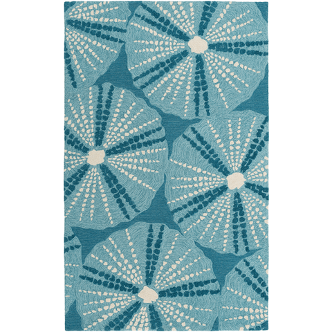 Image of Pescadaro Rug ~ Teal - Cece & Me - Home and Gifts