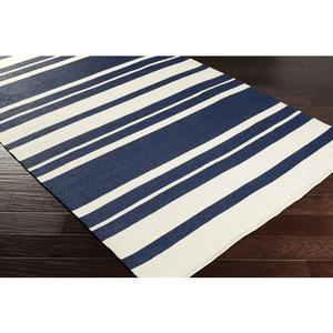 Picnic Rug ~ Navy & Cream