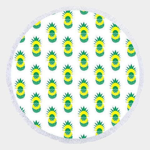 Pineapple Round Beach Towel - Cece & Me - Home and Gifts