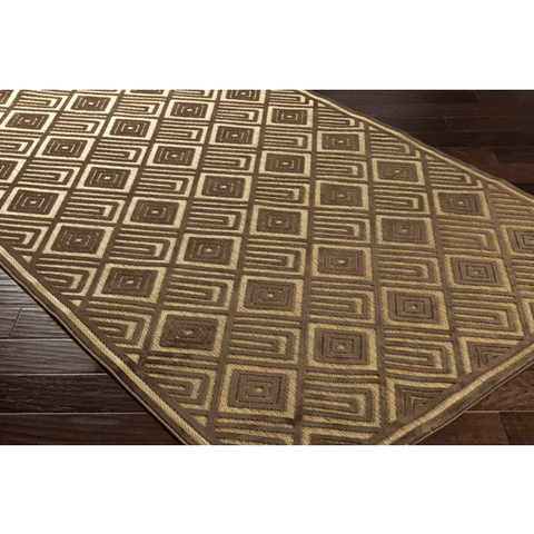 Image of Platt Rug ~ Dark Brown & Tan - Cece & Me - Home and Gifts