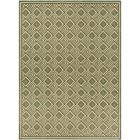 Image of Platt Rug ~ Dark Green & Khaki - Cece & Me - Home and Gifts
