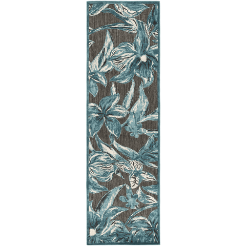 Image of Pleaden Rug ~ Teal/Aqua/Ivory/Black - Cece & Me - Home and Gifts