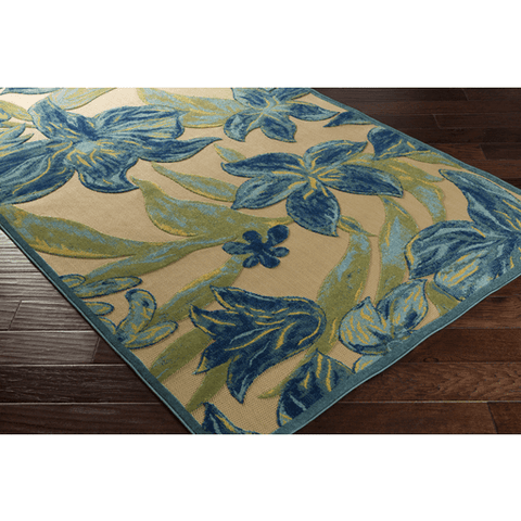 Image of Pleaden Rug ~ Teal/Dark Green/Aqua/Khaki - Cece & Me - Home and Gifts